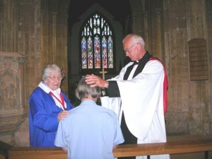 The 'laying on of hands' for healing
